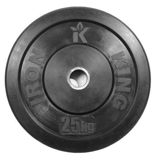 Диск для функционального тренинга (бампер) черный 25 кг Стальная втулка
