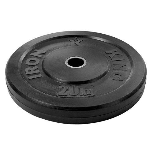 Диск для функционального тренинга (бампер) черный 20 кг Стальная втулка