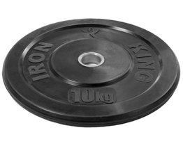 Диск для функционального тренинга (бампер) черный 10 кг Стальная втулка