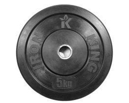 Диск для функционального тренинга (бампер) черный 5 кг Стальная втулка