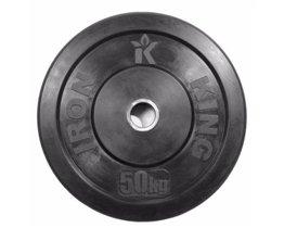 Диск Евро-Классик обрезиненный черный 50 кг. Стальная втулка