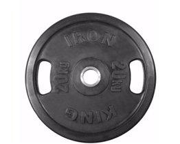 Диск Евро-Классик обрезиненный черный 20 кг. С хватами. Стальная втулка