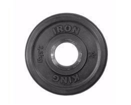 Диск Евро-Классик обрезиненный черный 2,5 кг. Стальная втулка