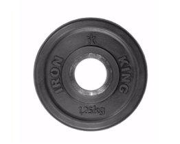 Диск Евро-Классик обрезиненный черный 1,25 кг. Стальная втулка